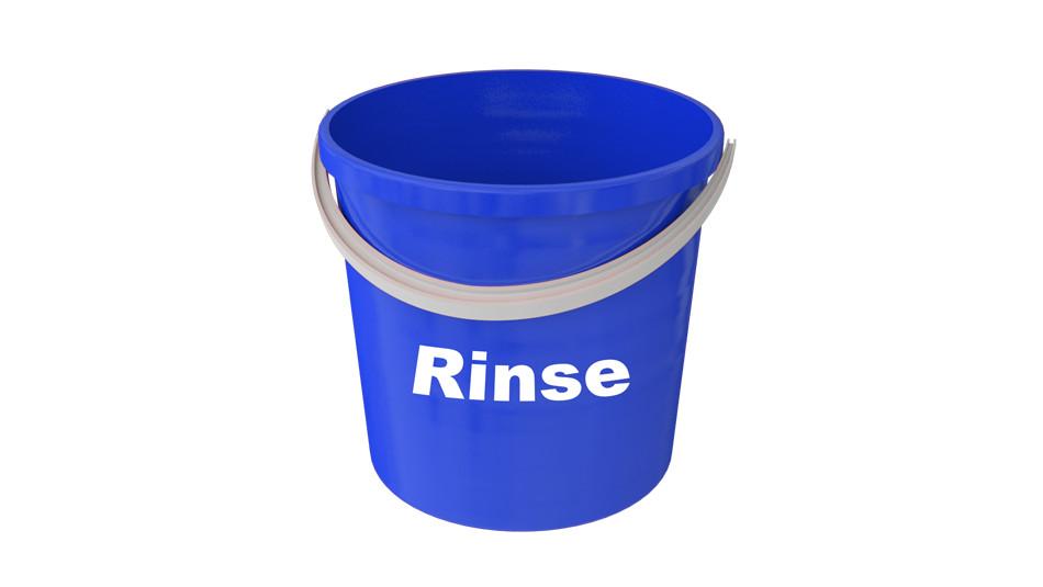 rinse bucket, 3 bucket method