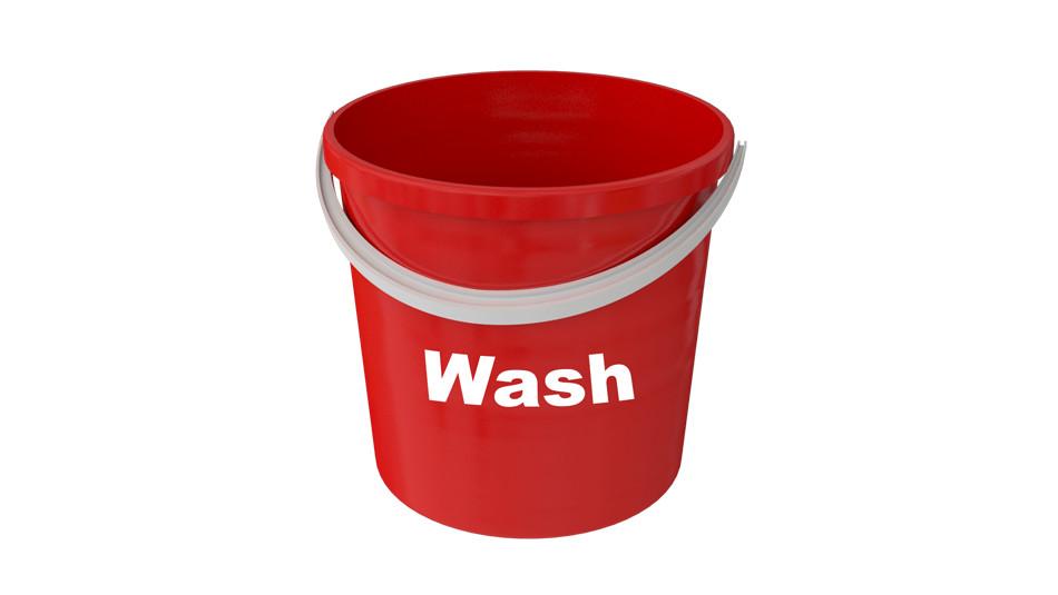 wash bucket, 3 bucket method