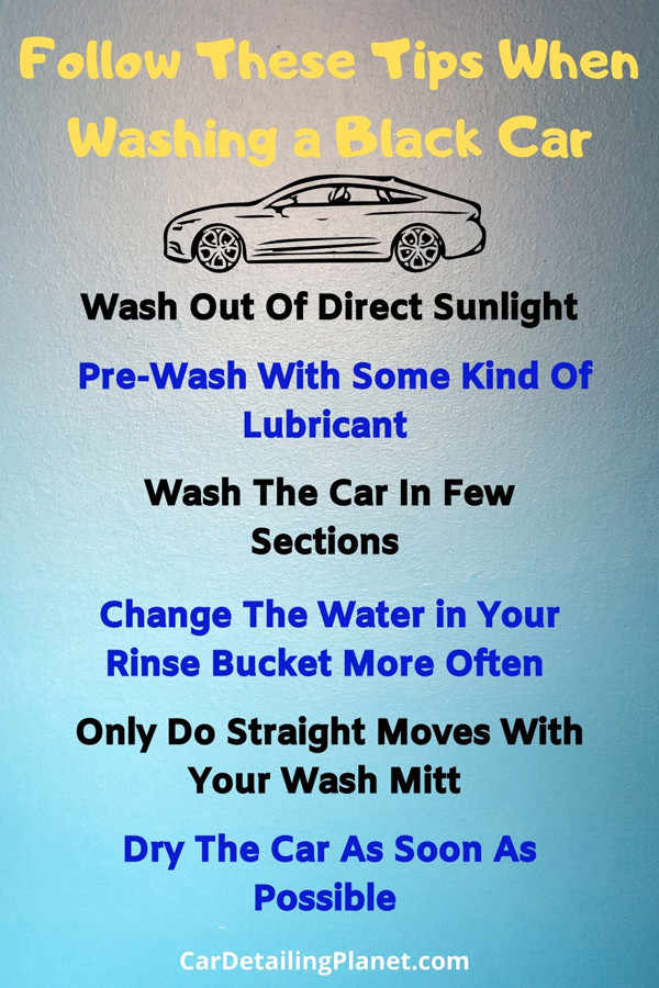 6 tips to follow When Washing a Black Car Infographic