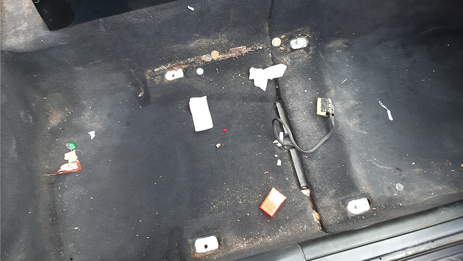 removing car seats is important when deep cleaning a car, trash under the seat