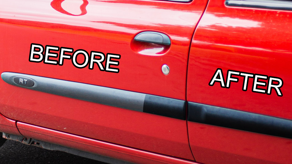 easily restore faded plastic trim on your car with cerakote ceramic coating