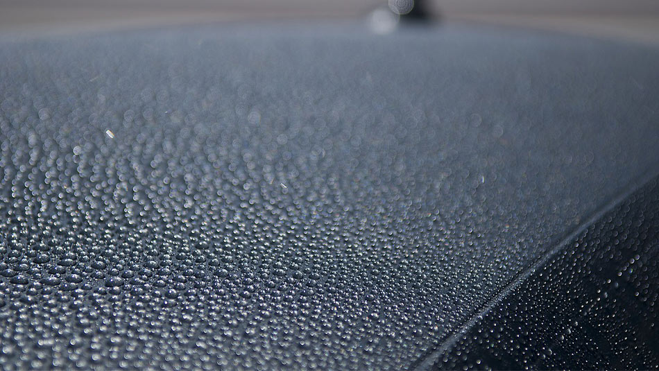 water beads on waxed car, protecting car paint,