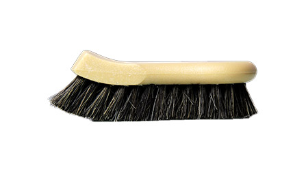 long bristhle horse hair leather cleaning brush, chemical guys, car detailing, leather cleaning brush