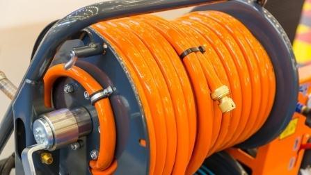 mounted hose reel garage