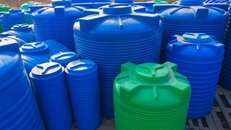 water tanks of various sizes