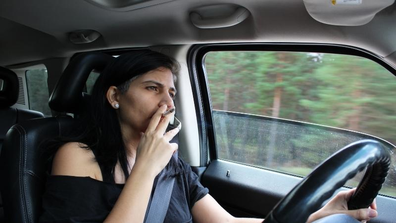 cleaning cigarette smoke from the car headliner